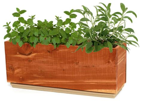 Windowsill Herb Planter by Windowsill Herb Planter Rustic Indoor Pots And