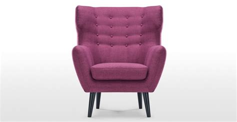 Kubrick Wing Back Chair In Plum Purple