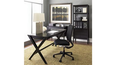 spotlight ebony 58 desk spotlight ebony 58 quot desk crate and barrel