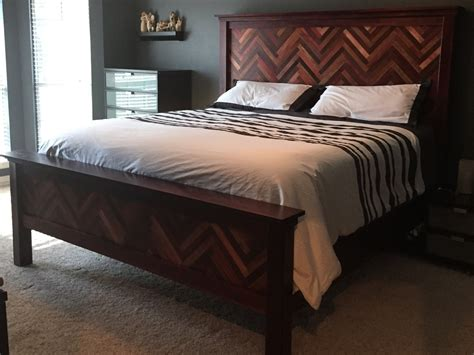 ana white cassidy bed  herrinbone design diy projects