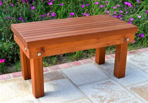 furniture cool small redwood outdoor patio bench design