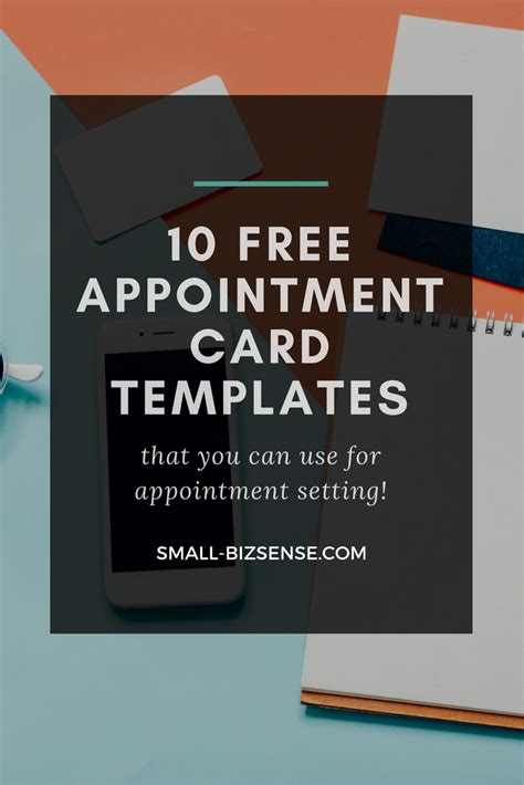card templates appointment card template 10 free resources for small