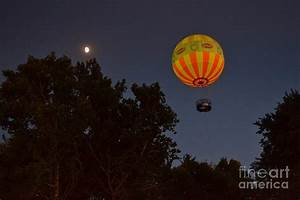 Hot Air Balloon At Night Photograph by Amy Lucid