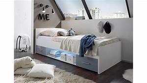 Bett Hochglanz Weiß 90x200 : bett colori wei und glas grau 90x200 cm ~ Markanthonyermac.com Haus und Dekorationen