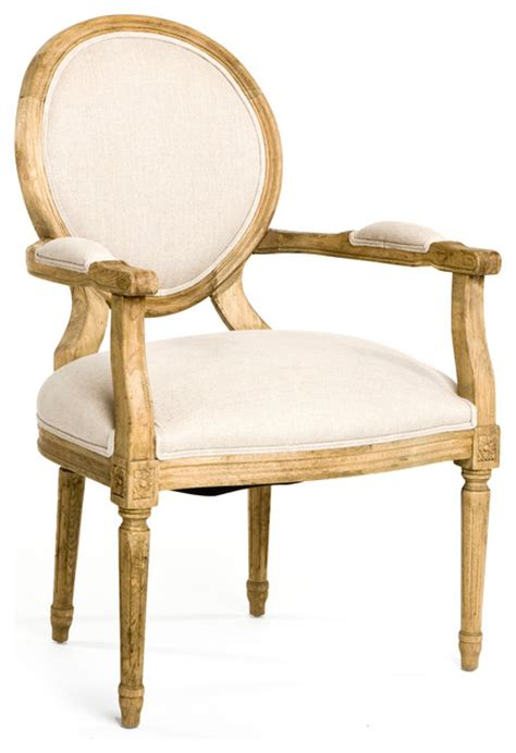 country louis xvi linen oval back dining arm chair