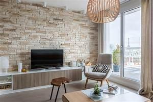 Pierre Pour Mur Intérieur : un parement de pierre dans le salon ~ Melissatoandfro.com Idées de Décoration