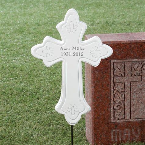 Personalized Resin Memorial Cross   Outdoor Décor
