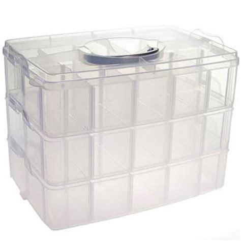 boite rangement pour perles et scrapbooking avec poign 233 e