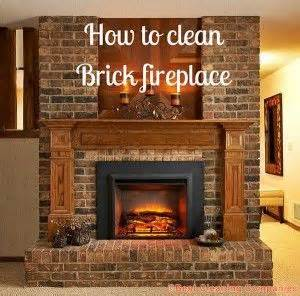 how to clean a fireplace how to clean brick fireplace home brick