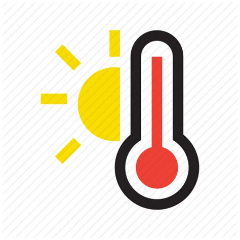 what does a thermometer icon in the weather channel high high temperature temperature thermometer