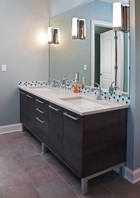 Modern vanity on aluminum legs   Contemporary   Bathroom