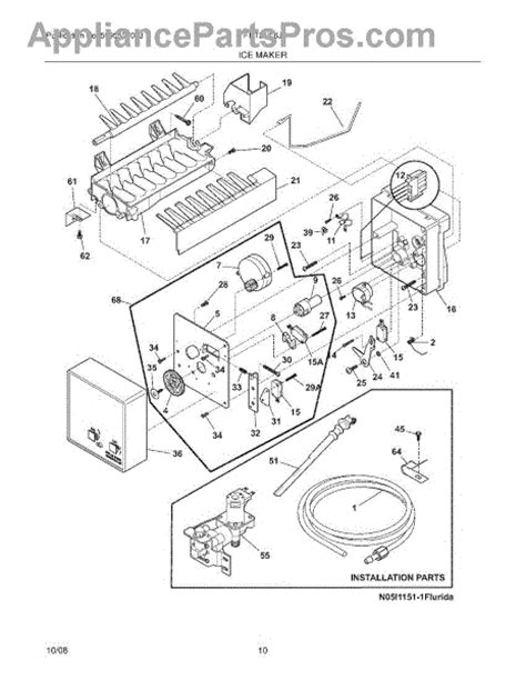 Parts For Frigidaire Frtiljw Ice Maker