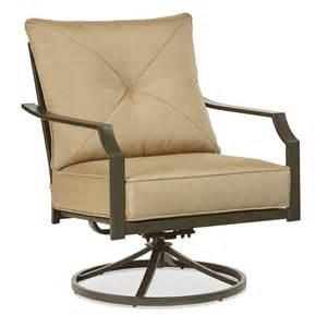 Garden Treasures Patio Furniture Cushions by Shop Garden Treasures Vinehaven 2 Count Brown Steel Swivel