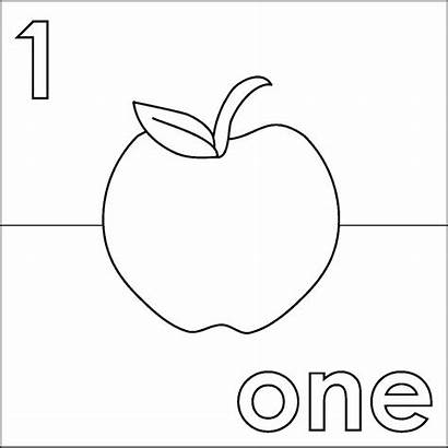 Apple Coloring Number Coloringpages4u