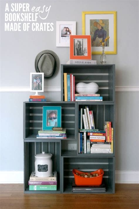 how to make a bookcase diy bookshelf from crates