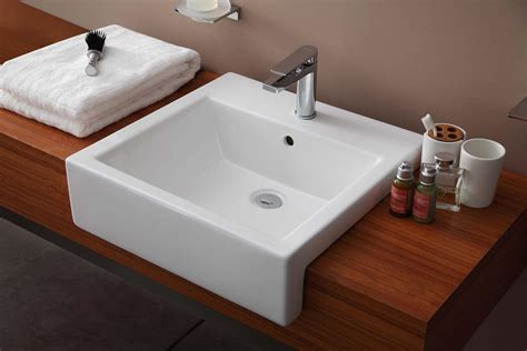 recessed sink bathroom semi recessed bathroom sinks
