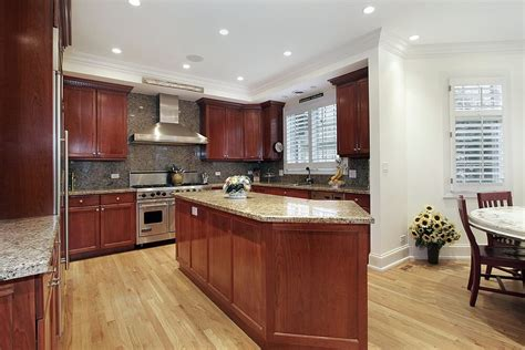 white kitchen cabinets with cherry wood floors 43 kitchens with extensive wood throughout 2205