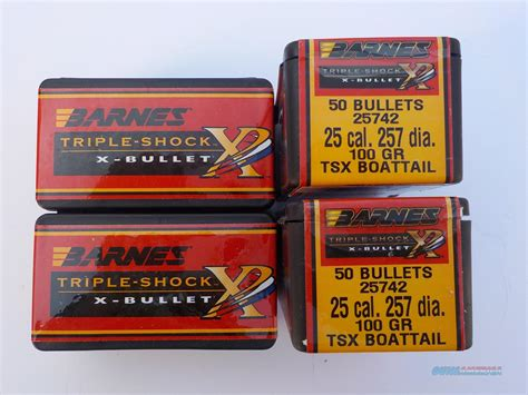 Barnes Tsx .257 100gr Bullets 4 Unopened Boxes ... For Sale