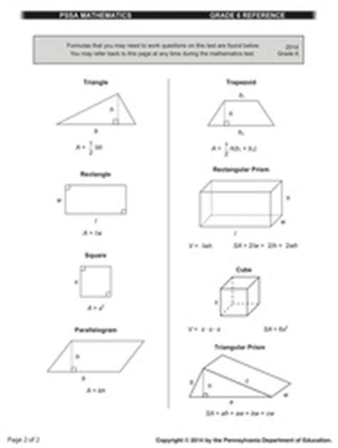 Pssa Math Practice Test Grade 8  Pssa Assessment Anchors