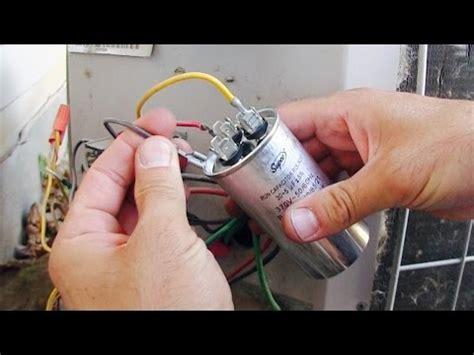 ac fan compressor not working how to repair replace hvac run start capacitor air