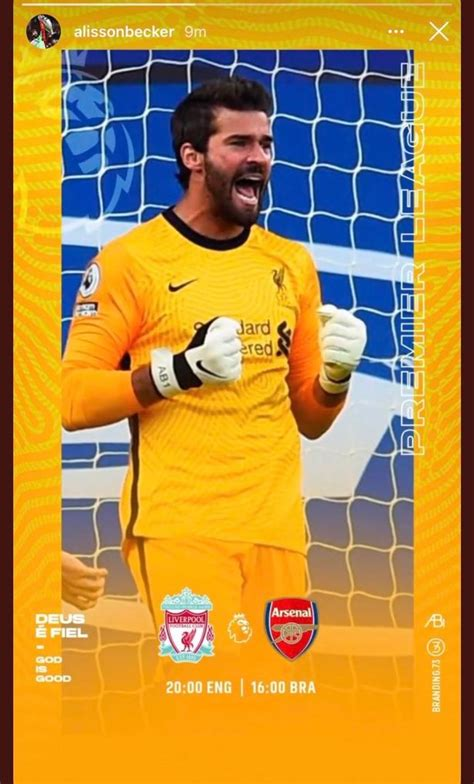 Liverpool keeper Alisson appears to drop hint on his ...