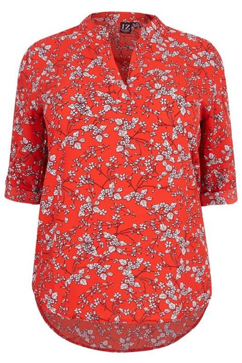size izabel curve red floral blouse sizes