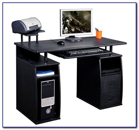 laptop desk with printer shelf computer desk with hutch and printer shelf desk home