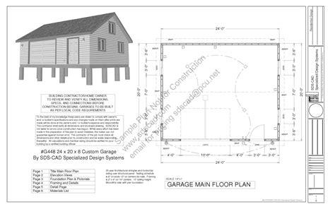 genius garage workshop plans free g448 24 x 20 x 8 free pdf garage plans blueprints