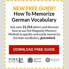 Memorize German Vocabulary  Fast And Easy Ways To Learn German Vocabulary