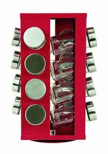 Support à épices : s p kruidenrek rood met 16 potjes serie soho ~ Teatrodelosmanantiales.com Idées de Décoration