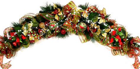 mantel garland christmas centerpiece swag lux custom red lime
