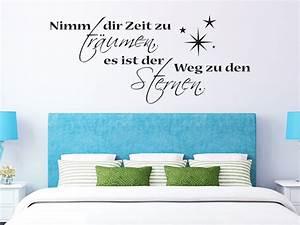 Zeit Fürs Bett : traumhafte wandtattoo spr che f rs schlafzimmer spruch ~ Eleganceandgraceweddings.com Haus und Dekorationen
