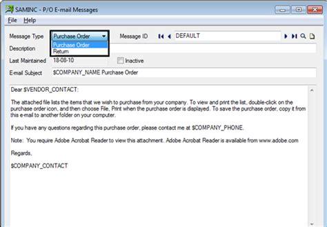 Send Email To Vendor Via Sage 300 Erp  Sage 300 Erp