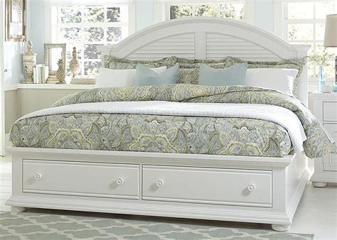 summer house oyster white panel storage bed from
