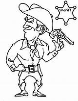 Coloring Cowboy Sheriff Printable Button Using Getcolorings Grab Feel Could Template sketch template