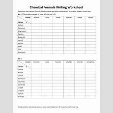 Worksheet Writing Chemical Formulas Worksheet Grass Fedjp Worksheet Study Site