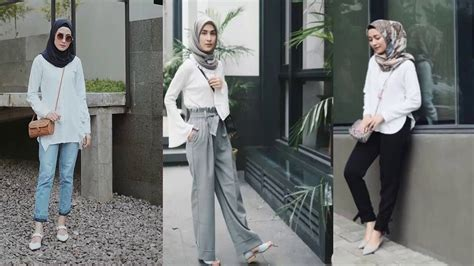 koleksi fashion hijab remaja  trend ootd casual outfit