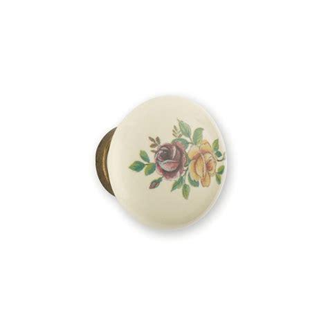 boutons de meubles de cuisine bouton porcelaine et métal fleur