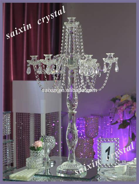 Crystal Candelabra Wedding Centerpiece And Flower Stand