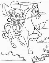 Cowboy Coloring Pages Printable Print Coloring2print sketch template