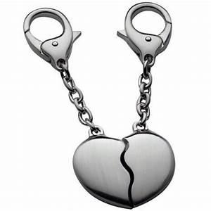 Porte Clé Coeur : porte cl coeur en deux parties cadeau amoureux ebay ~ Teatrodelosmanantiales.com Idées de Décoration
