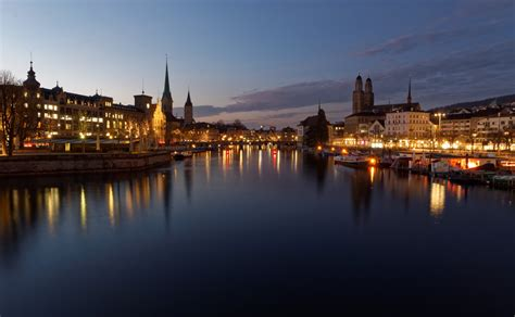 wallpaper lights sunset city cityscape night water