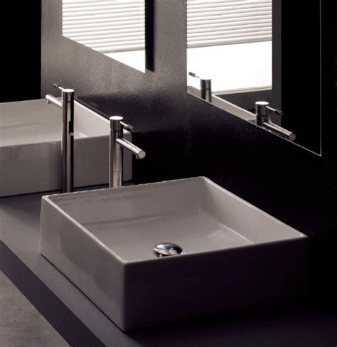 Modern Square White Ceramic Bathroom Vessel Sink Modern