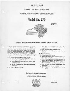 American Flyer Oil Drum Loader 779 Parts List  U0026 Diagram