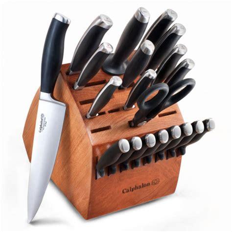calphalon contemporary knife block set  piece cutlery