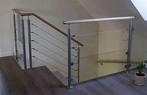 Cable Garde Corps : rambarde etage cable verre ~ Voncanada.com Idées de Décoration