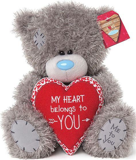 teddy bear  heart belongs   cm