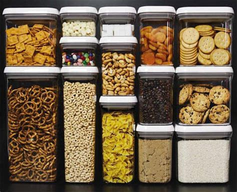 organisation cuisine food storage with a plastic base material home design