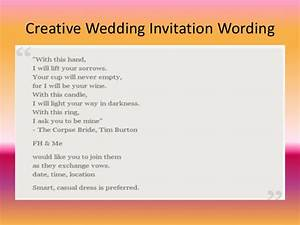 inspirational wedding invitation wording for friends in With wedding invitation text for facebook