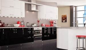 black white and red kitchen decor kitchen and decor With black and red kitchen designs